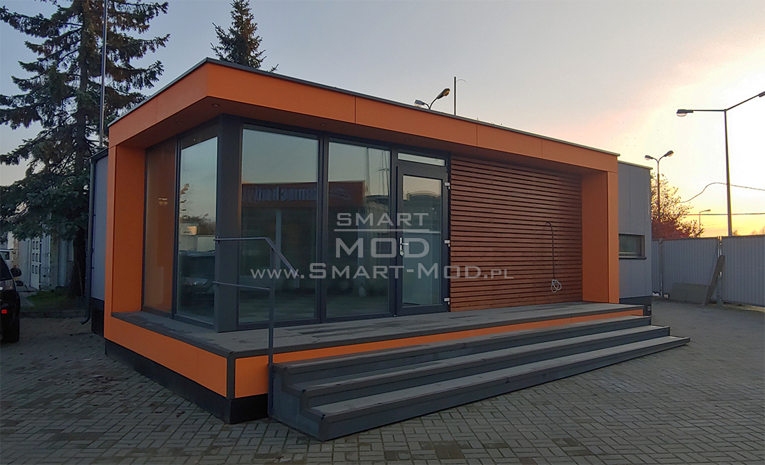 Modular office on the sales yard